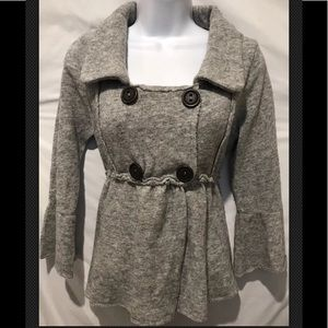 FREE PEOPLE Lambswool Jacket Double Breasted
